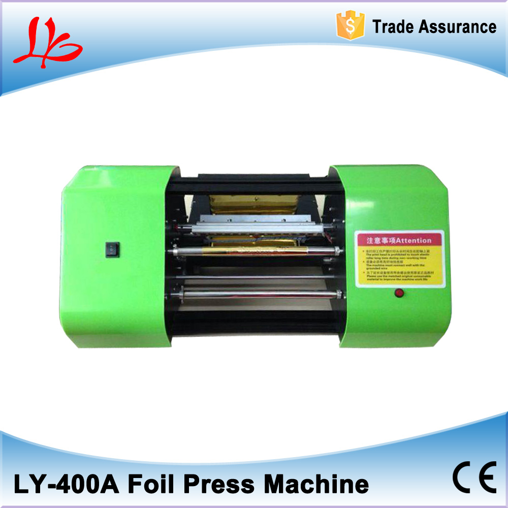 Free shipping LY 400A  digital hot foil stamping printer machine  best sales color business card printing multifunctional and economic cd dvd pvc card printer on hot sales