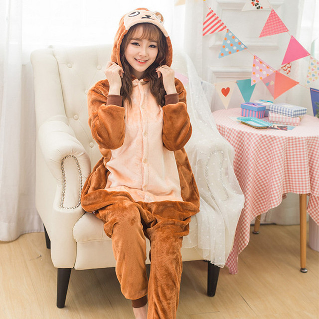 halloween animal costume sleepwear flannel adult cute anime animal onesies hooded baboon monkey pyjamas cosplay pajamas