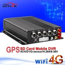 Envío gratis 4 g gps del coche dvr móvil dvr wifi grabadora de vídeo en tiempo real cíclica de grabación G-sensor de automóvil sistema de vigilancia