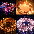 20 м 200 LED Открытый Рождество Сказочных Огней Теплый Белый Медный Провод, светильники СВЕТОДИОДНЫЕ Строки Фары Звездное Новый Приезжать