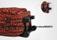 бесплатная доставка! оранжевый письма род чемодан багажа прокатки с руководство качество 20, 24 дюймов - 1 шт