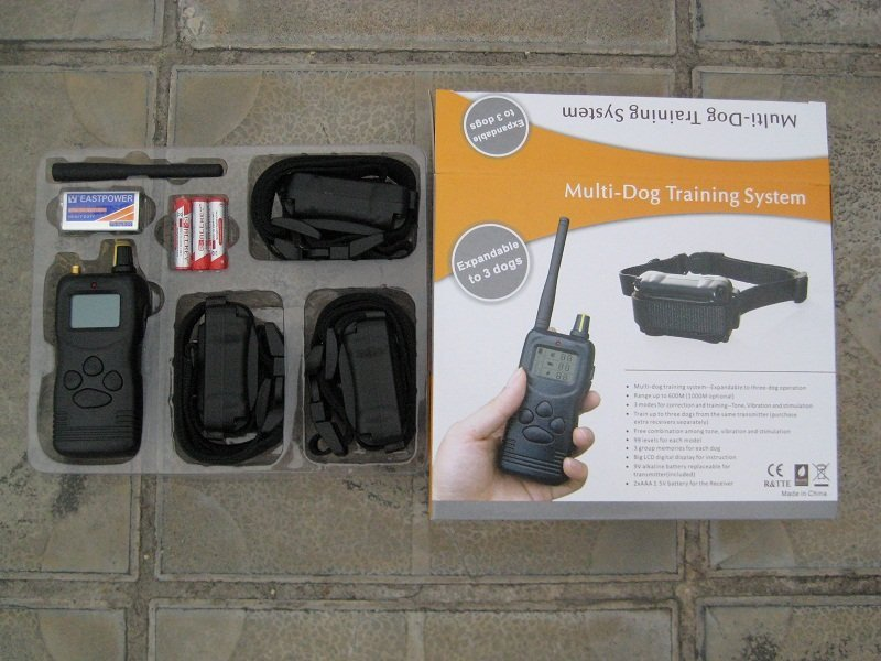 10 шт. ЖК 1000 м Пульт дистанционного управления для собак шок тренировочный ошейник с ЖК-дисплеем расширяемый до 3 собак