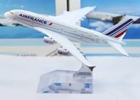 """бесплатная доставка, сопровождать модель самолета """"Эр Франс"""" а380, 16 см, модели самолета металла, модель самолета украл подарки"""