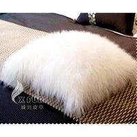 Free Shipping CX D 04A/Z 40x40cm Custom Tibetan Lamb Fur Pillow Cushion Cover