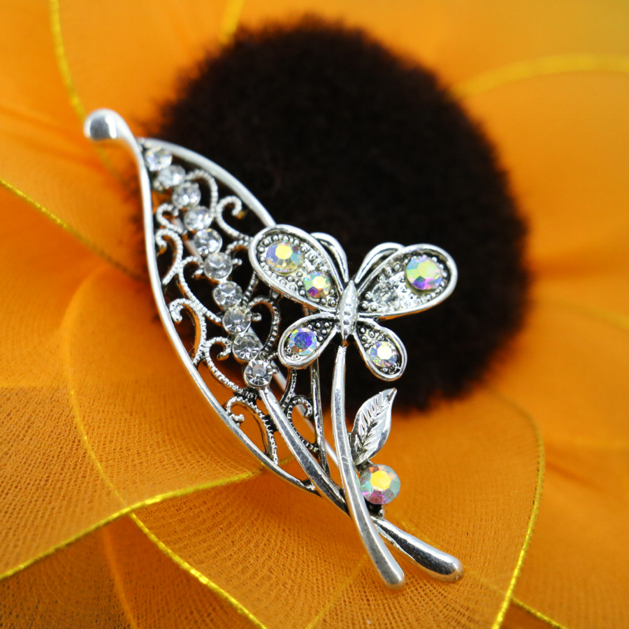 Papillon Broche Cristal Strass Broches Pour Femmes Fashion Jewelry