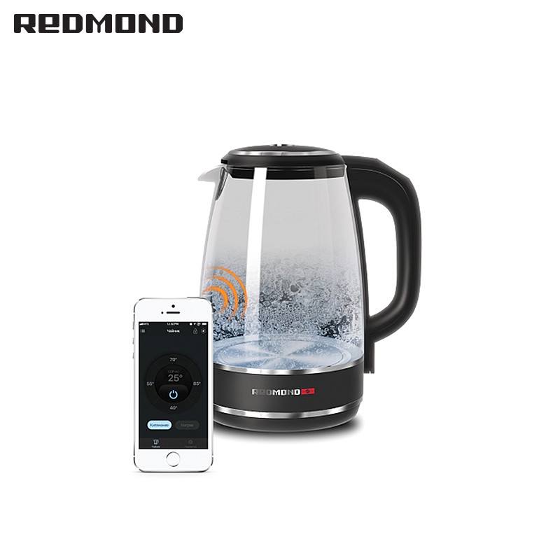 Kettle REDMOND RK-G200S electric kettles pot teapot thermo Household pot Quick instant Heating  Boiling Pot glass large capacty large capacity glass leakproof oil can