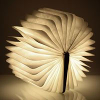 LED Rechargeable Folding Book Night Lights 4 5W 500LM Battery Operated Changeable Shape Table Desk Lamp