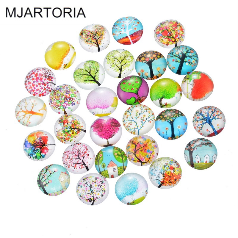 Buy mjartoria 10pcs glass cabochon 20mm for Craft and jewelry supplies
