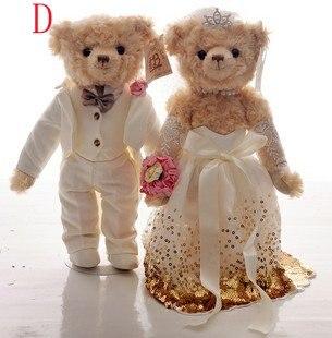 Рождественский подарок свадебный подарок 36 см плюшевый мишка плюшевая игрушка пара плюшевый мишка влюбленные подарок