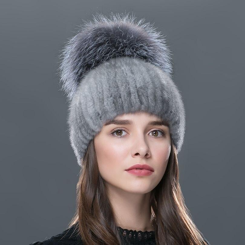 LTGFUR 2016 Russia luxury top grade ladies fur caps fashion elegant beanies high end female cap