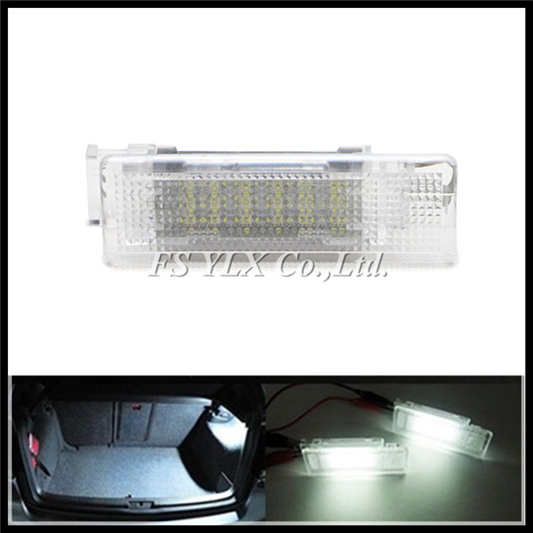 Car LED interior trunk lamps for VW LED Luggage Compartment lights for VW Beetle Caddy Golf Jetta Sharan Tiguan Touareg Touran car rear trunk security shield cargo cover for volkswagen vw tiguan 2016 2017 2018 high qualit black beige auto accessories