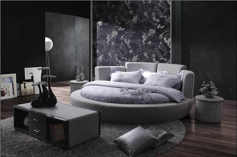 moderne confortable chambre meubles pas cher lit rond 0414 r02