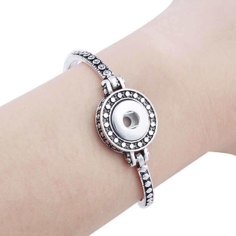 Vintage regolabile 12mm pulsante a scatto in metallo braccialetto per le donne gioielli stering gioielli Orologi wom ZE252