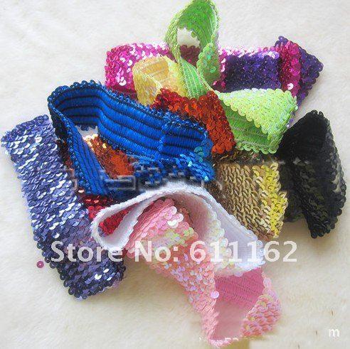 100 шт около 19 см(5 ряд) обруч с бантом Разноцветные детские повязки для девочек стрейч застежка-молния 12 различных цветов
