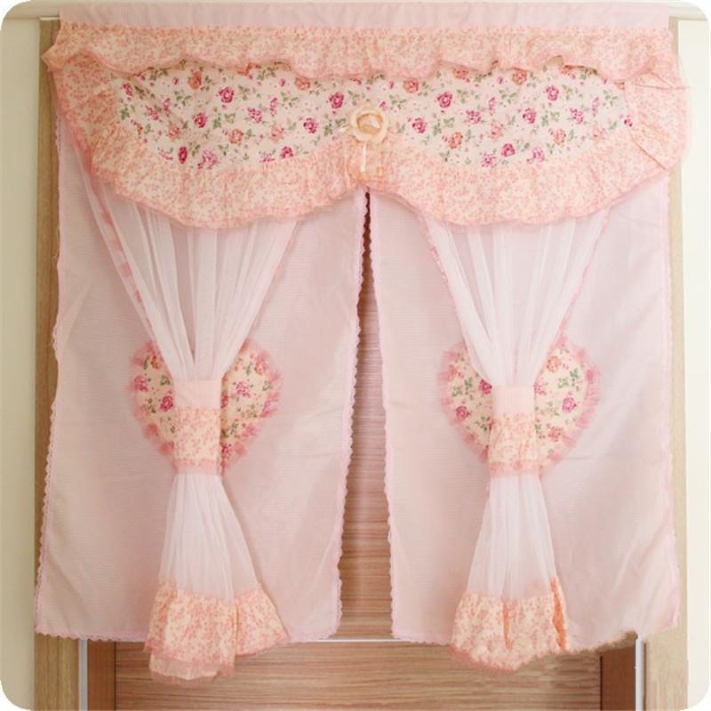 cm largo floral cortinas para puertas puerta romntico de encaje cortina