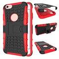 Для iphone5 5S SE 6 6 SPlus 7 7 Плюс Двойной Слой гибридный Kickstand Стенд Противоударный Прочная Броня Влияние Обложка Combo PC + TPU случае