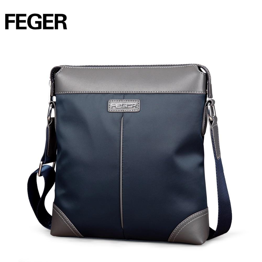 FEGER 2017 fashion men' shoulder bags high quality nylon casual messenger bag men's travel bags 2017 high quaitily casual fashion 024