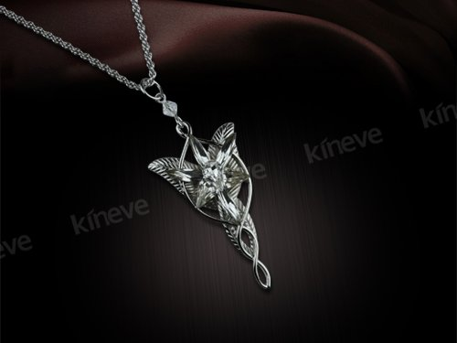 Wholesale new lotr lord of the ring arwen evenstar pendant necklace arwen evenstar pendantwhite copper02g aloadofball Choice Image