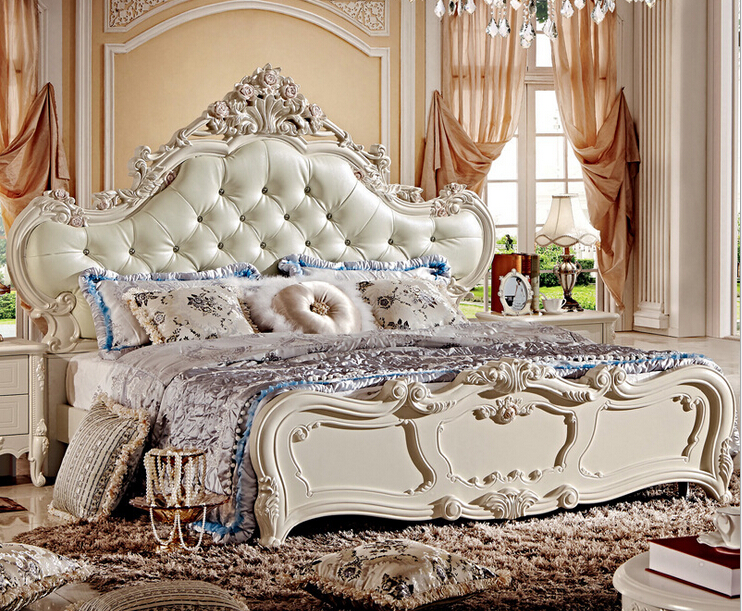 Details About White 3 Piece Storage Drawers Twin Bed Box: French Style Pearl White Bed With Storage Box 8866-in Beds