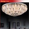 ZX Circular Lustres Lámpara de Techo de Cristal K9 Minimalista Creativa Peacock Lámpara E27 LLEVÓ la Iluminación del Dormitorio Sala de estar Comedor