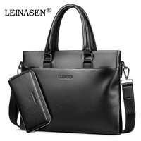 Free Shipping 2017 New Fashion Pu Leather Bags For Men Famous Brand LEINASEN Men S Shoulder