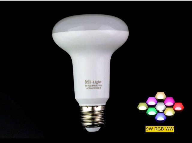 2.4 g sem fio mi lâmpadas ac85 265v e27 gu10 par30 rgbw rgbww