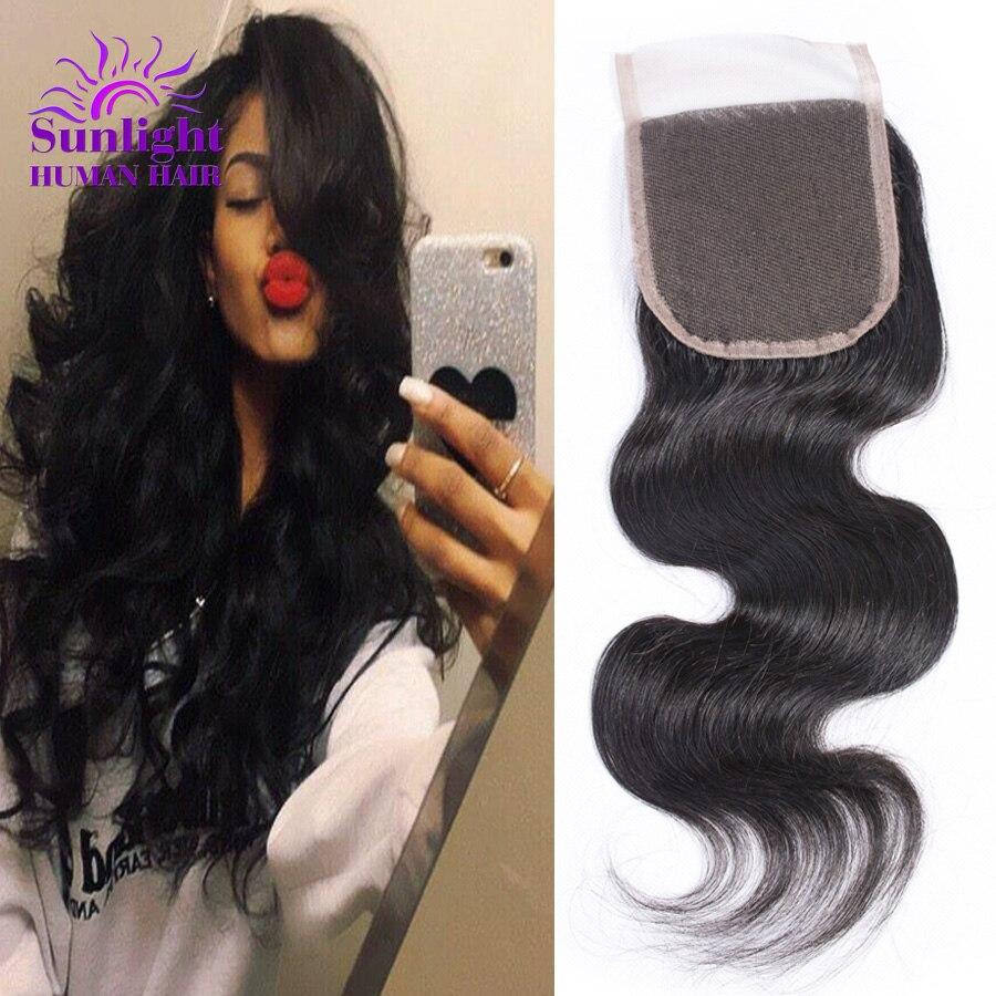 ФОТО Malaysian Body Wave Lace Closure 4x4 Unprocessed Malaysian Virgin Hair Top Closure Free/Middle/3 Part Virgin Human Hair Closure