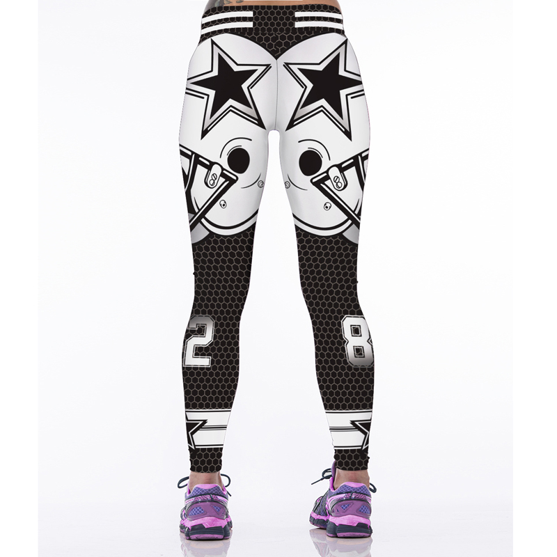 c10fc687ecb89 Woman Yoga Pants Fitness Fiber Sport Leggings Dallas Cowboys Sports Tights  Trousers Exercise Training Gym Clothing Sportswear-in Yoga Pants from  Sports ...