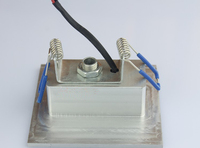 бесплатная доставка 1 вт из светодиодов встраиваемые круглый свет quadrant комплект в установленный углу-ступенчатый стену позе цоколь лампы напряжение тока ac85-260в