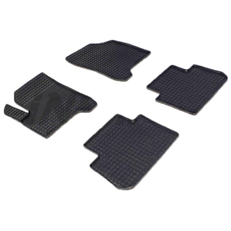 For Citroen C3 Picasso 2009-2019 rubber grid floor mats into saloon 4 pcs/set Seintex 01464 цена