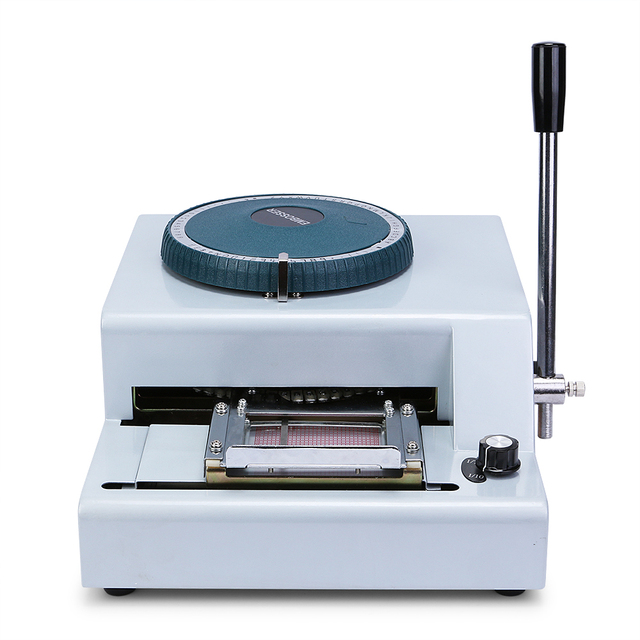 70-character pvc card embosser laser engraved dial stamping credit.