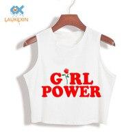 90S Girl Power Women Cotton Crop Top Tank Tops Harajuku Fashion Rose Letter Print Tumblr Camisoles