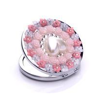 кристалл мини красоты зеркальце портативный двойной стороны рама из нержавеющей стали обычный + увеличительное wwxd1013