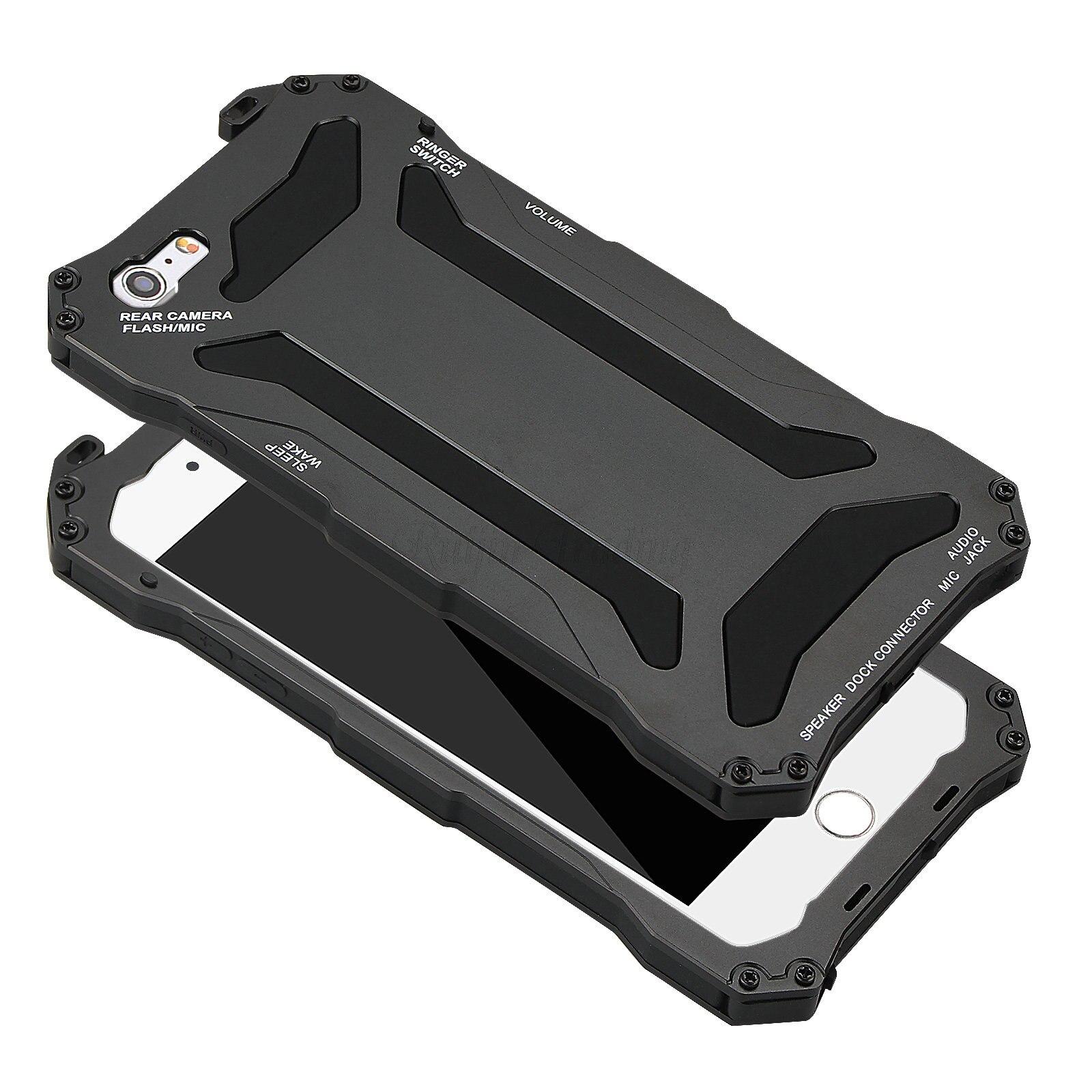 imágenes para Caja Del Teléfono Para el iphone 5 5S IPX3 SE 6 6 s Plus de lujo de Aluminio Gorilla Glass de Metal Cubierta Del Teléfono Celular A Prueba de Golpes A Prueba de agua de Gran Alcance