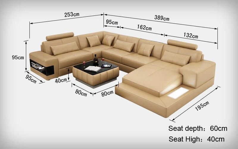 Desain Bagus Sofa Ukuran Dengan Warna Yang Unik 0413 L6014 Di Sofa