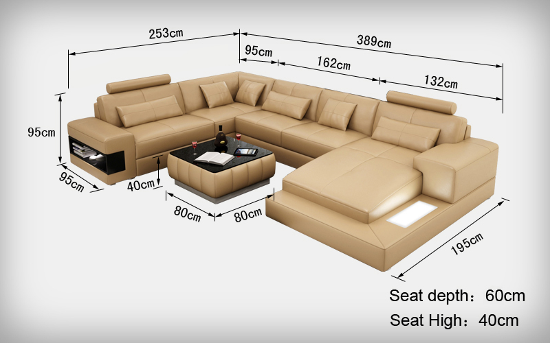 Nice Design Sofa Size With Unique Color 0413 L6014 In Living Room