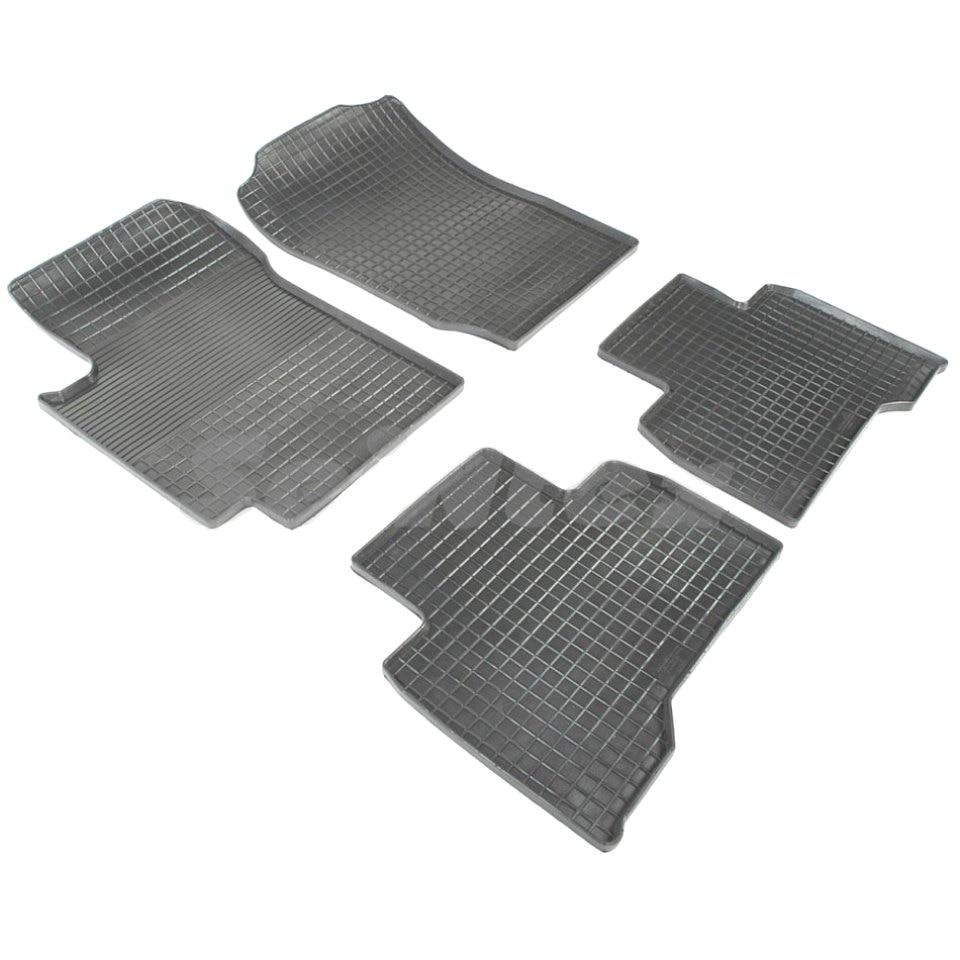 Rubber grid floor mats for Mercedes-Benz C-class W204 2007 2008 2009 2010 2012 2013 2014 2015 Seintex 83428 комплект ковриков в салон автомобиля klever standart для mercedes benz c class w204 седан 2007 2014