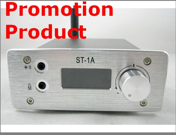 Promotion 1W ST-1A FM stereo PLL radio broadcast transmitter 87-108Mhz  0.1W to 1.2W only 69USD free shipping