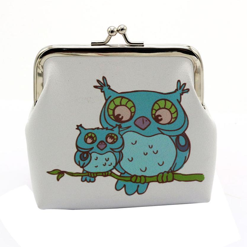 Coin Purse Girls Bag Pouch Womens Owl Elephant Wallet Bolsa Feminina Card Holder Clutch Kids Carteira