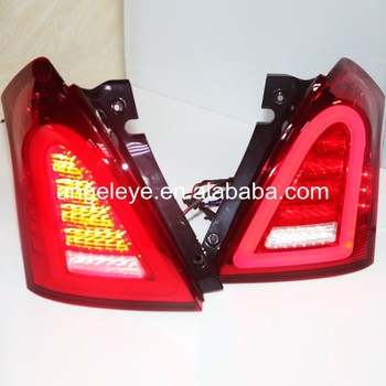 For SUZUKI for Swift  2006-2010 Year Full LED Rear Light Back Light Red Color WH