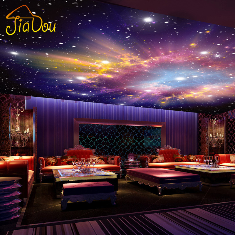 Custom Murals 3D Star Nebula Night Sky Wall Painting Ceiling Smallpox Wallpaper Bedroom TV Background Galaxy Theme Wallpaper custom photo 3d ceiling murals wall paper blue sky rose flower dove room decor painting 3d wall murals wallpaper for walls 3 d