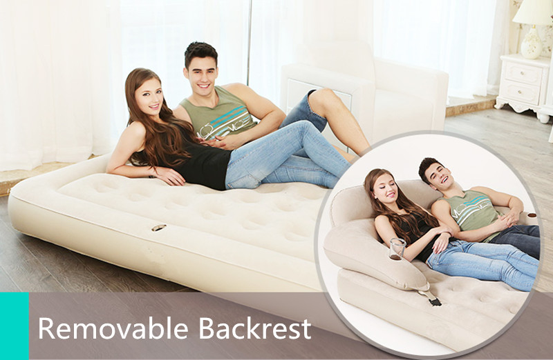 Waterproof Air Bed Backrest Inflatable Mattress Fast Inflatable Folding Bed Bedroom Furniture Mueble De Dormitorio Free Shipping