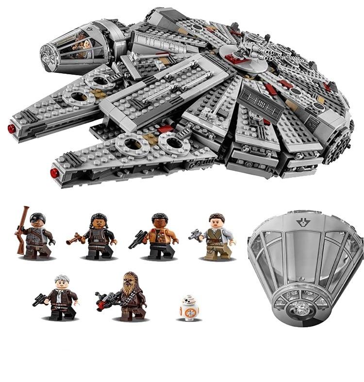 1381 ADET Yıldız Savaşları Kuvvet Millennium Falcon Uyandırır Han Solo Yapı Kiti Legoe Minifigures Çocuk Oyuncak ile Uyumlu 75105