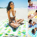 4 color New Summer Large 100% Cotton Printed Round Beach Towels Beach Cover Up for adult Bikini Boho Serviette De Plage Toalla