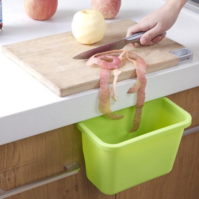 Hot Kitchen Storage Box Hanging Kitchen Waste Bin Hanged Cupboard