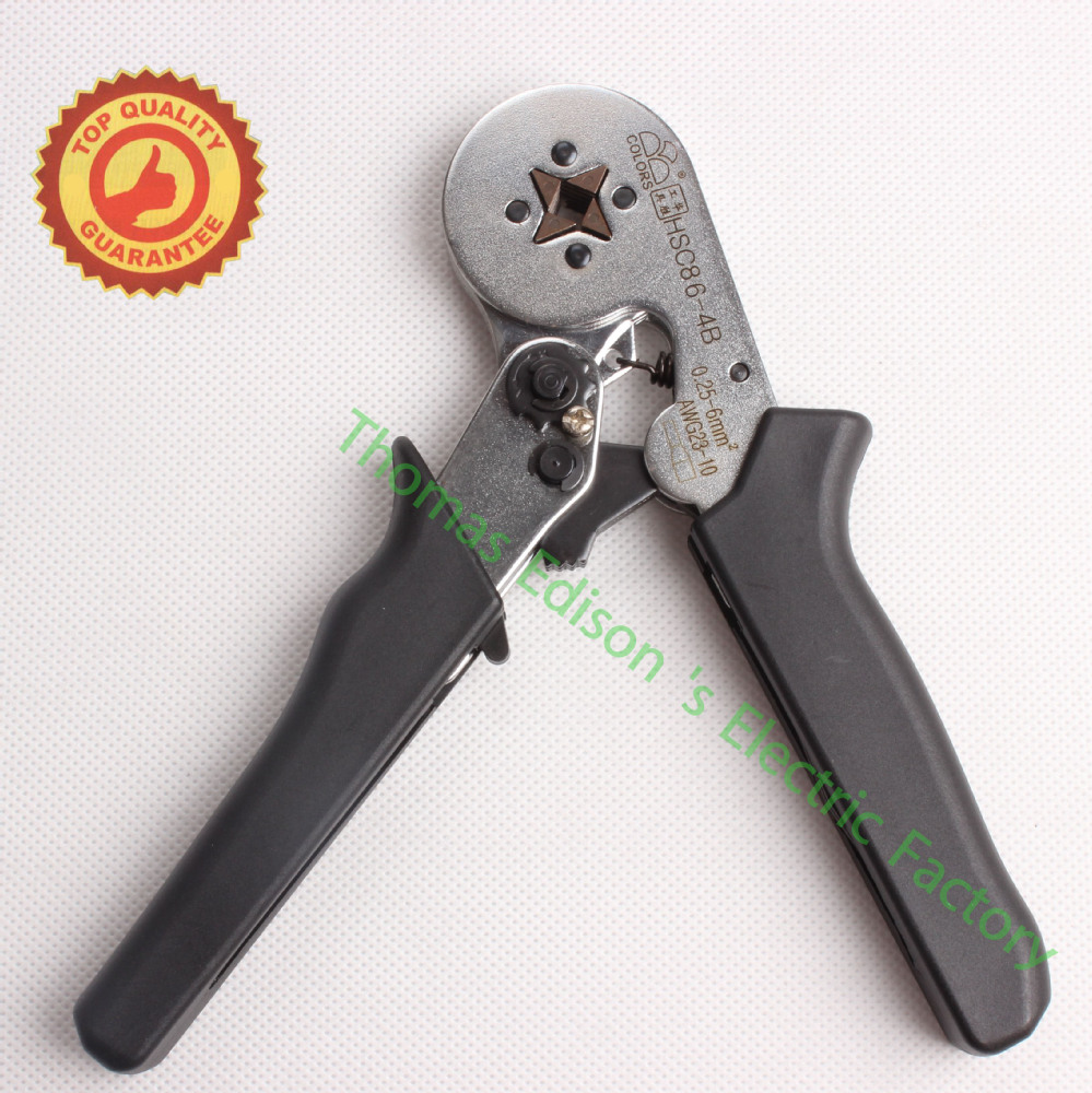 HSC8 6-4B MINI-TYPE SELF-ADJUSTABLE CRIMPING PLIER 0.25-6mm2 terminals crimping tools multi tool tools hands pliers LUBAN  цены