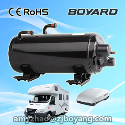 R407C horizontal ac compressor for rv roof mounted air conditioner system unit r410a 9000btu horizontal compressors rv rooftop caravan air conditioner