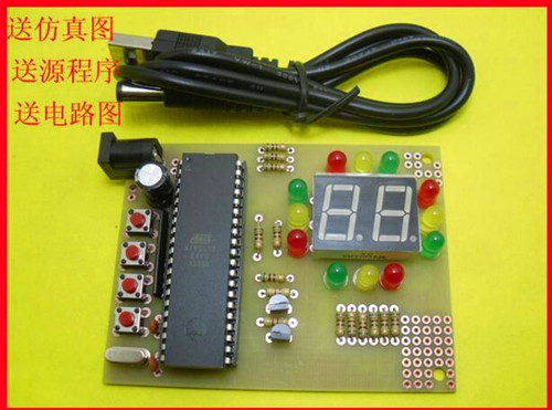 Free Shipping!!! 5pcs 51 single-chip design of traffic lights lights / traffic lights kit learning kit / Electronic Component