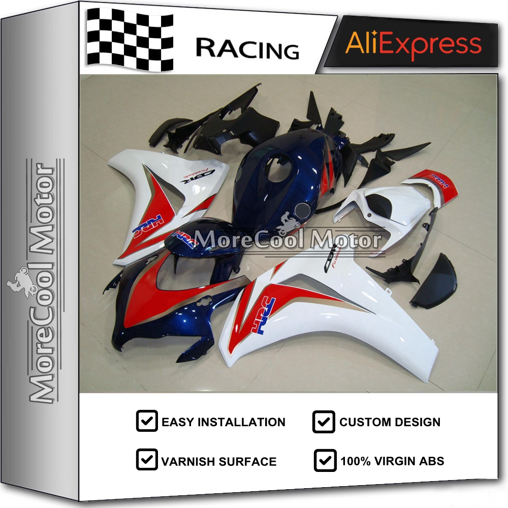 ABS Fairing Kits For Honda CBR 1000 RR 2008 2009 2010 2011 CBR1000RR 08 09 10 11 Motorcycle Bodywork HRC Red Blue White arashi motorcycle radiator grille protective cover grill guard protector for 2008 2009 2010 2011 honda cbr1000rr cbr 1000 rr