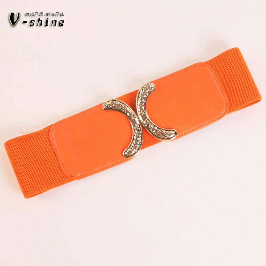 A New Simple Dress Belt Inlaid Diamond Fine Female Elastic Sweet Bowknot All-match Paragraph Y083
